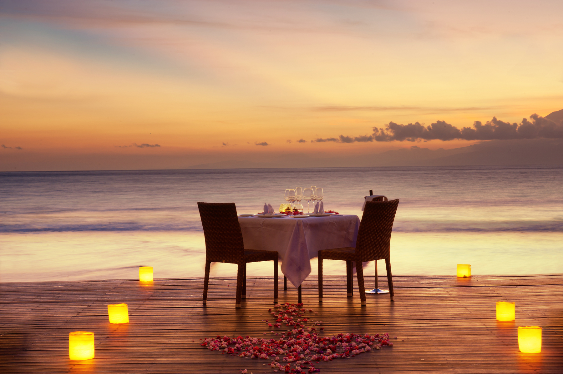 Dinner romantis di Lombok